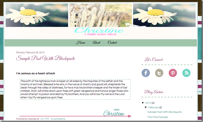Kingdom Advantrix| Christine-A PreMade Blogger Template
