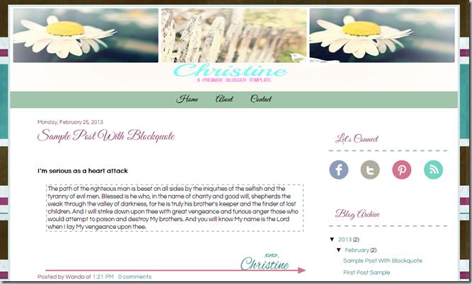 Kingdom Advantrix  Christine-A PreMade Blogger Template