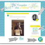 Custom Blog Design| Consider the Lilies