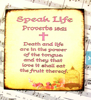 Speak Life Decoupage Coasters Proverbs 1821 Drink by PrayerNotes
