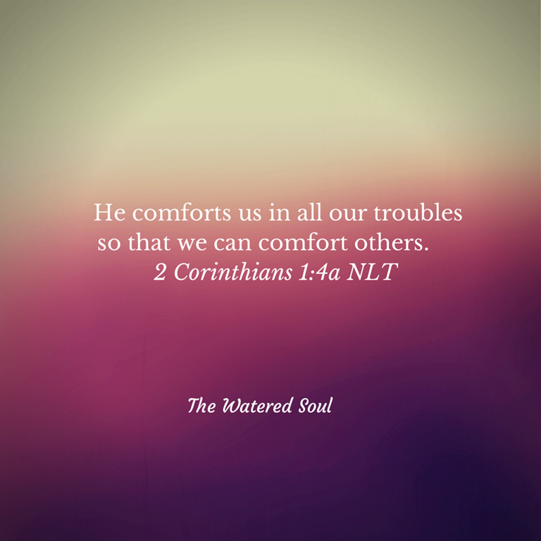 Comforts in our troubles graphic